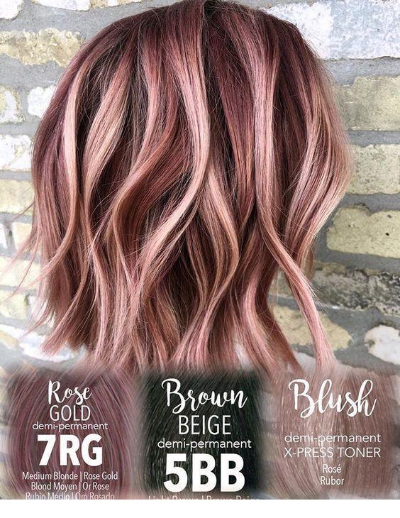 Rose Gold den ganzen Weg   - Hair and Hairstyles - #den #ganzen #Gold #Hair #hairstyles #Rose #Weg #winterhaircolor