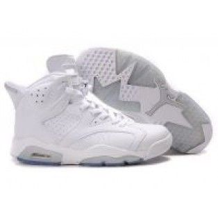 Nike Air Jordan 6 Retro all white 25th Anniversary  37aadaac03