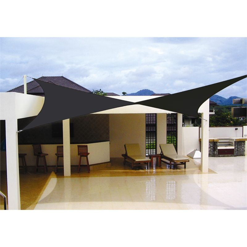 picture of diy shade sail simple practical and recommended protection for outdoor