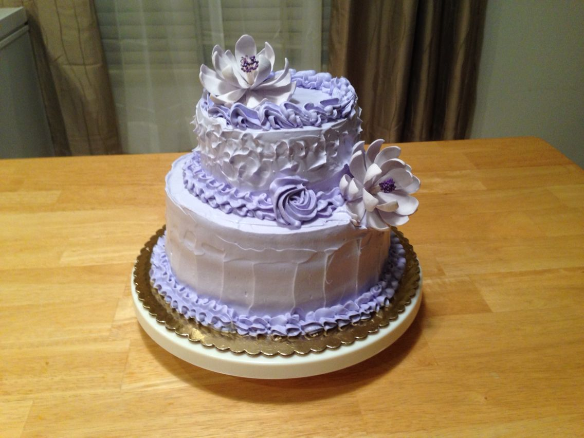 Classic Birthday Cake Favorite Color Lavender Cakes And Other