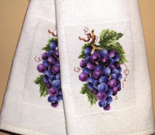 Cross stitch towels
