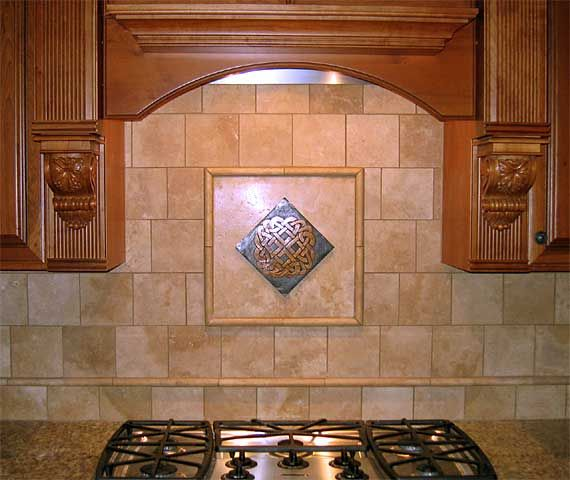 Celtic Bronze Tiles In Their Settings Kitchen Backsplash Designs Kitchen Tiles Kitchen Backsplash Gallery