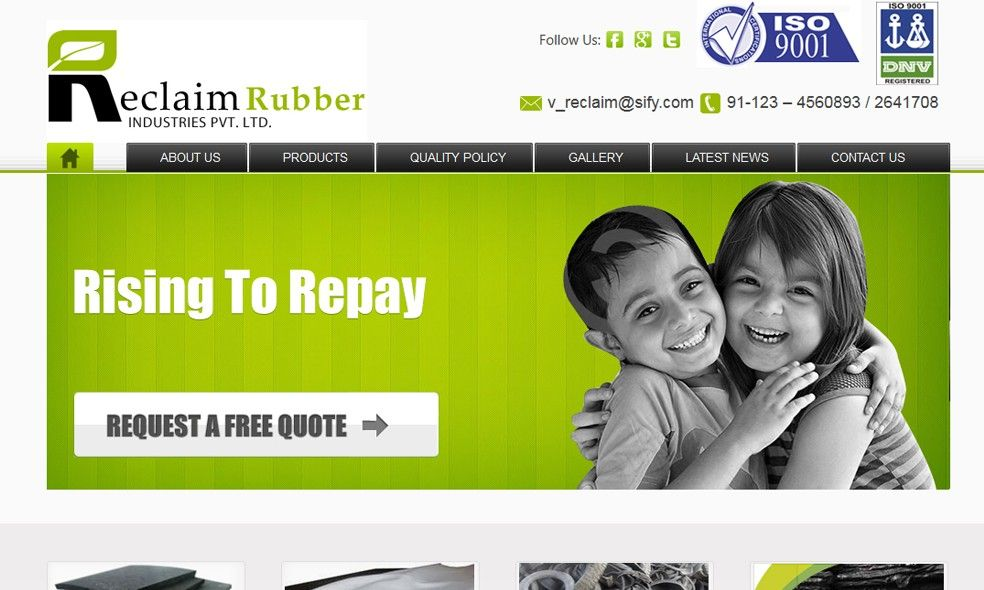 Reclaim Rubber Manufacturing Website Templates Manufacturing