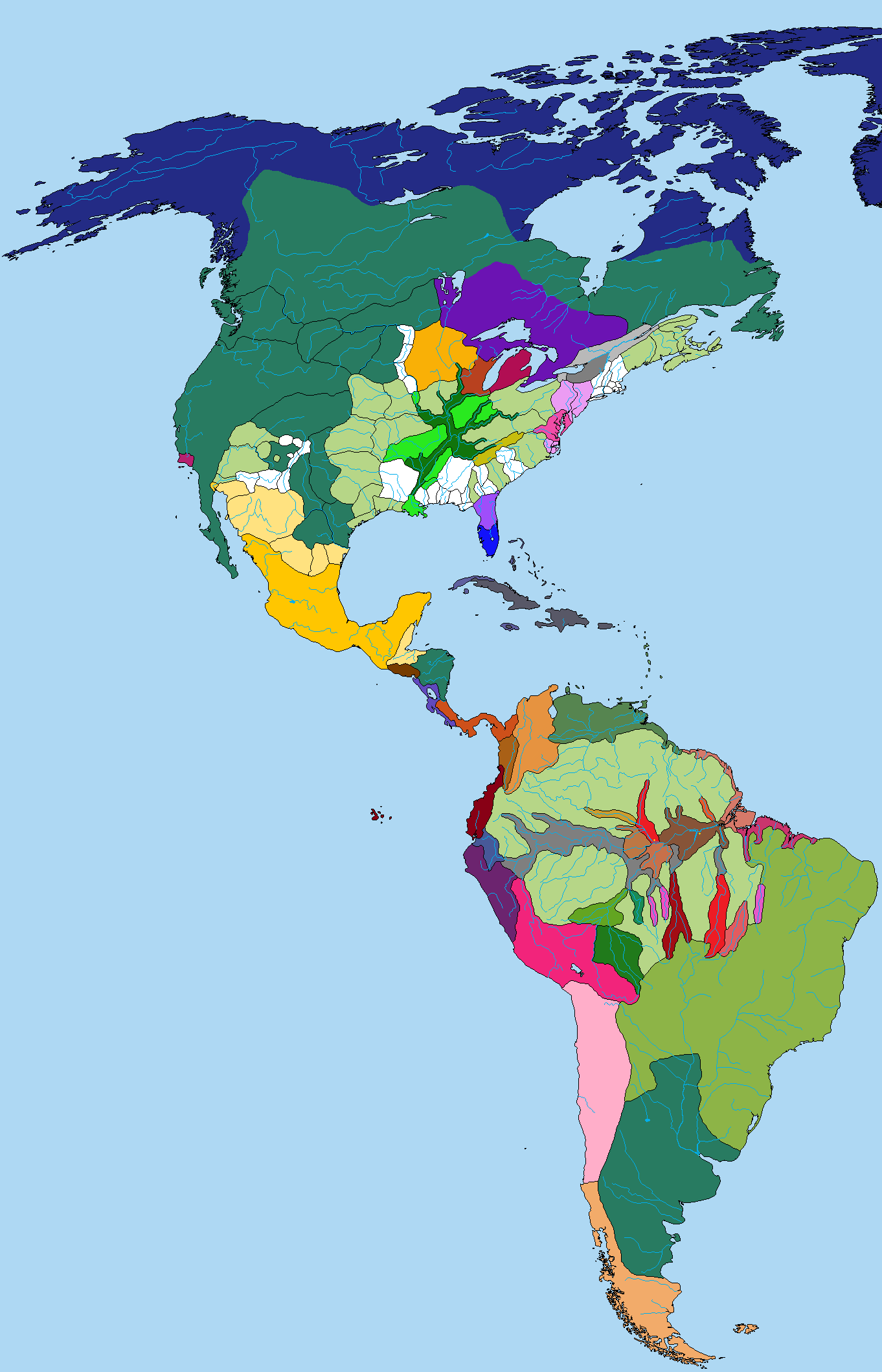 Pre Columbian Banw Map Of The Americas Evolution And Anthropology