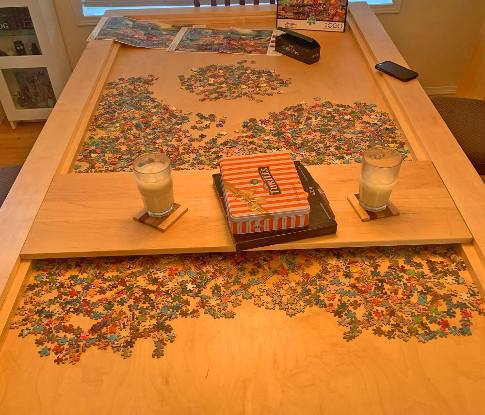 This Amazing Dining Table Has A Hidden Game Puzzle Compartment