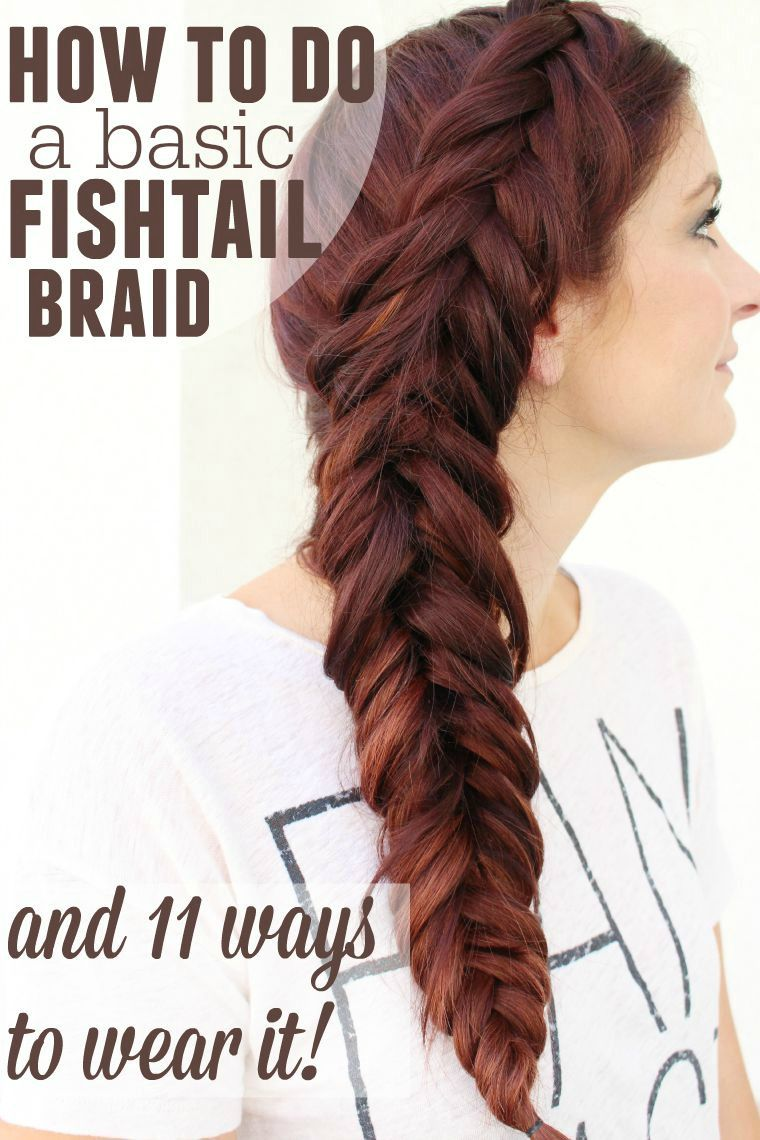 easy fishtail braid tutorial for beginners