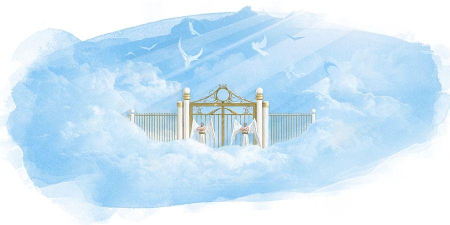 O Que A Biblia Diz Sobre O Ceu Portao Do Ceu Anjos No Ceu Anjos