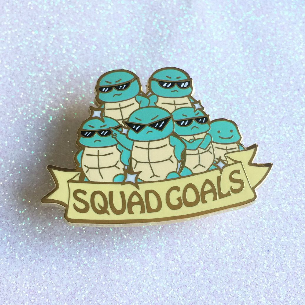 Squirtle Squad Pin made by TeanoSugar -