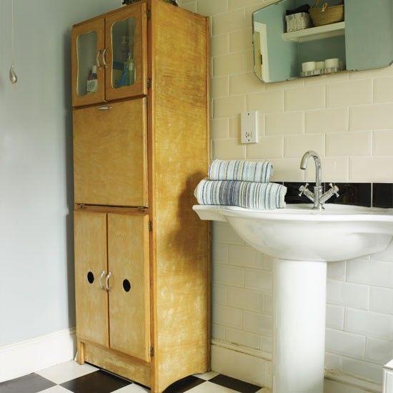 50er-Jahre Badezimmer Lagerung Wohnideen Badezimmer Living Ideas - badezimmer 50er jahre
