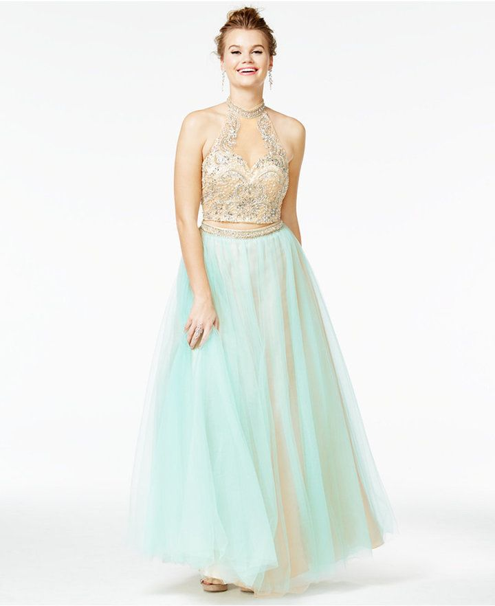 Say Yes to the Prom Juniors\' 2-Pc. Embellished Ball Gown, A Macy\'s ...
