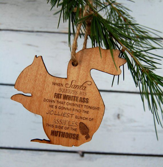 christmas ornament laser engraved alder wood funny christmas vacation christmas movie