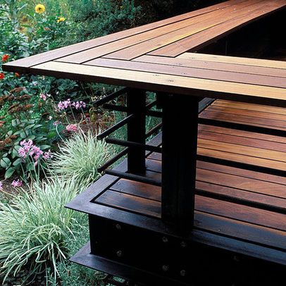 Deck Benches Design Ideas, Pictures, Remodel, and Decor - page 7 - terrazas en madera