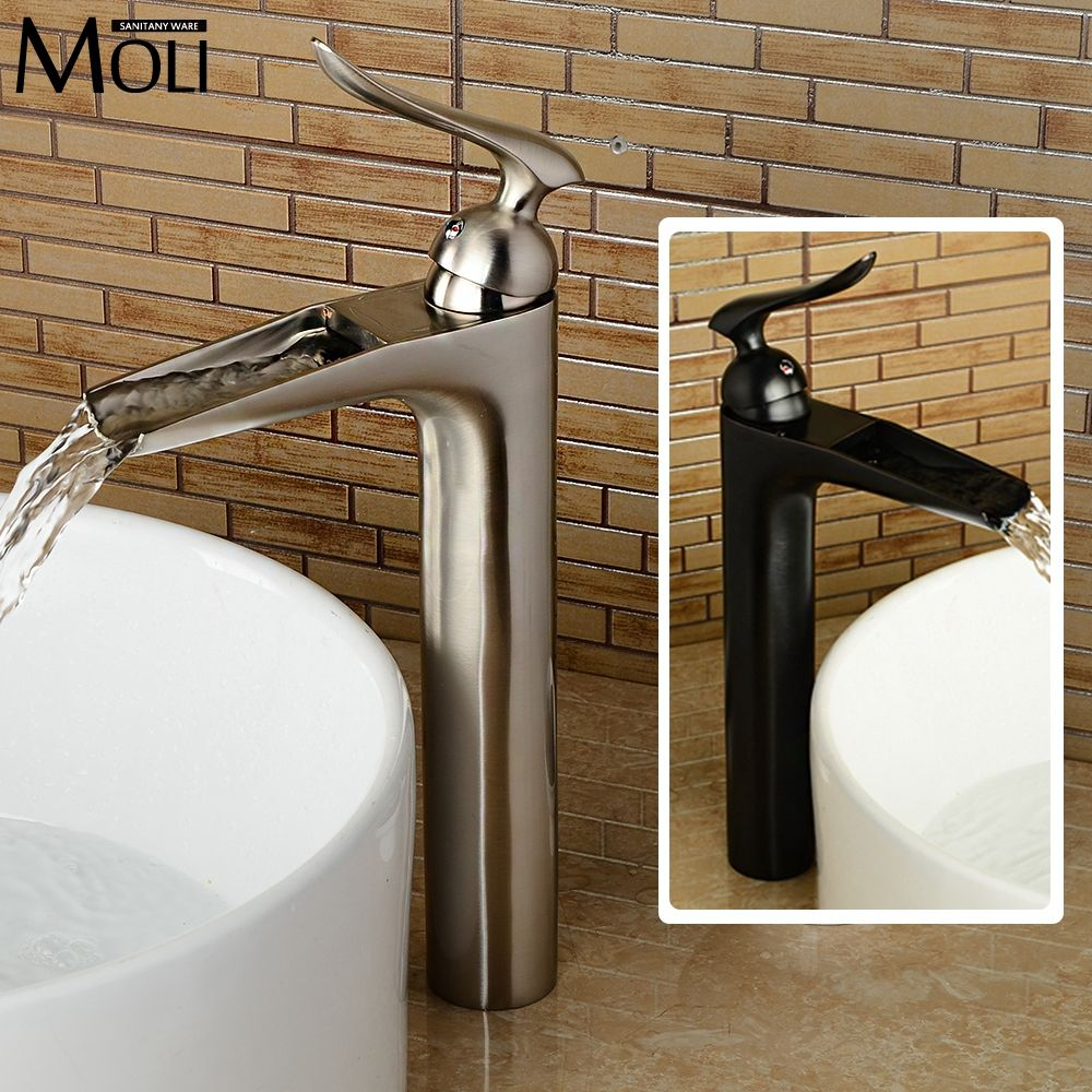 2016 New style brushed nickel bathroom sink faucet soild brass ...