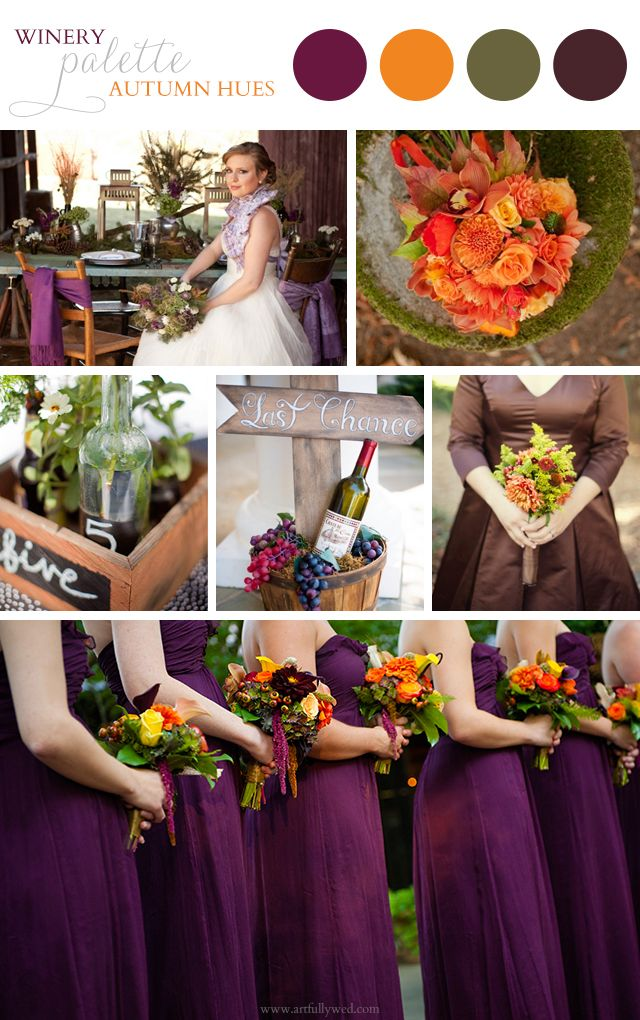Artful Palette: Autumn Winery Wedding Ideas