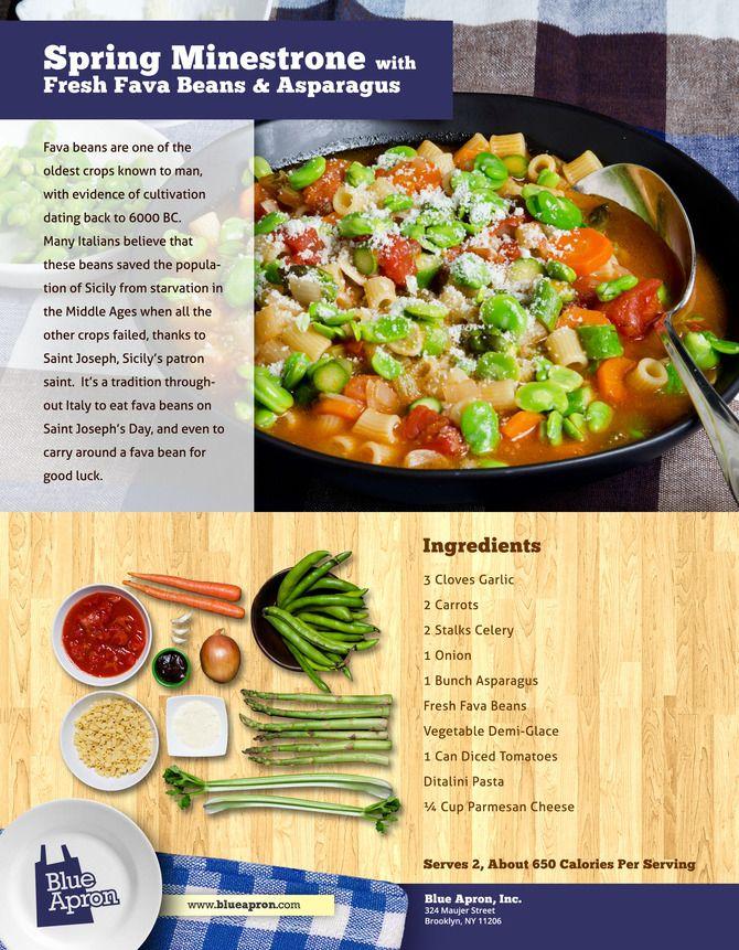 Spring Minestrone w/Fava beans & Asparagus