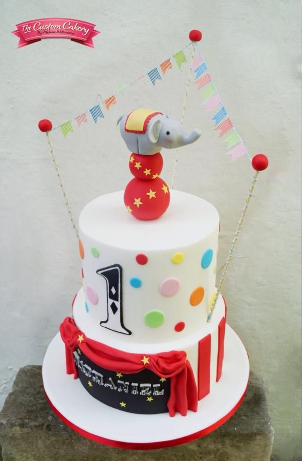 Balancing Circus Elephant Cake by The Custom Cakery Cakes Cake