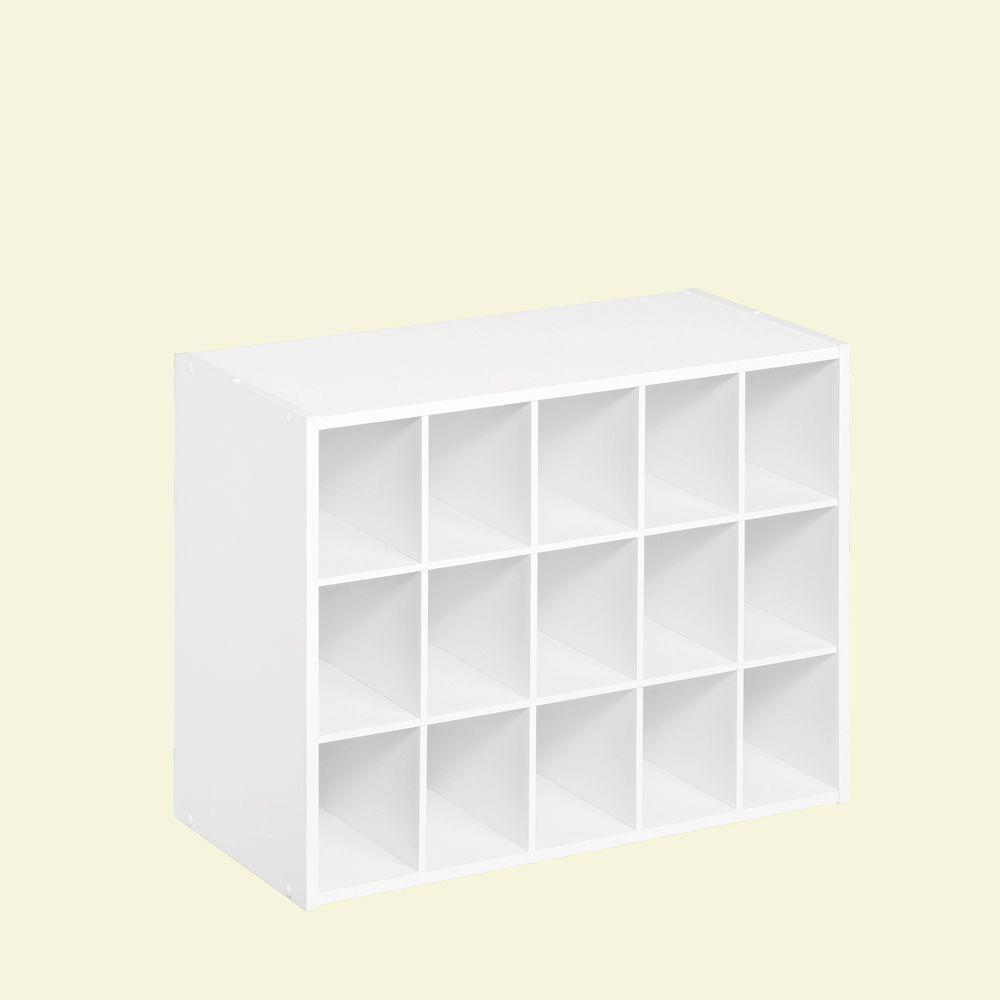 Closetmaid 24 In W X 19 In H Espresso Stackable 15 Cube Organizer 8929 Cube Organizer Cube Storage Closetmaid