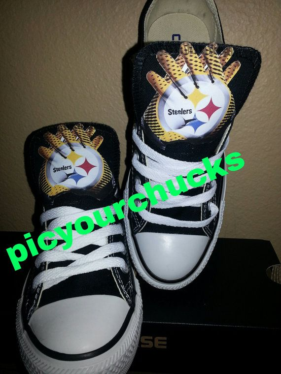 1607591695c Adult Steelers Custom Converse by PicyourChucks on Etsy