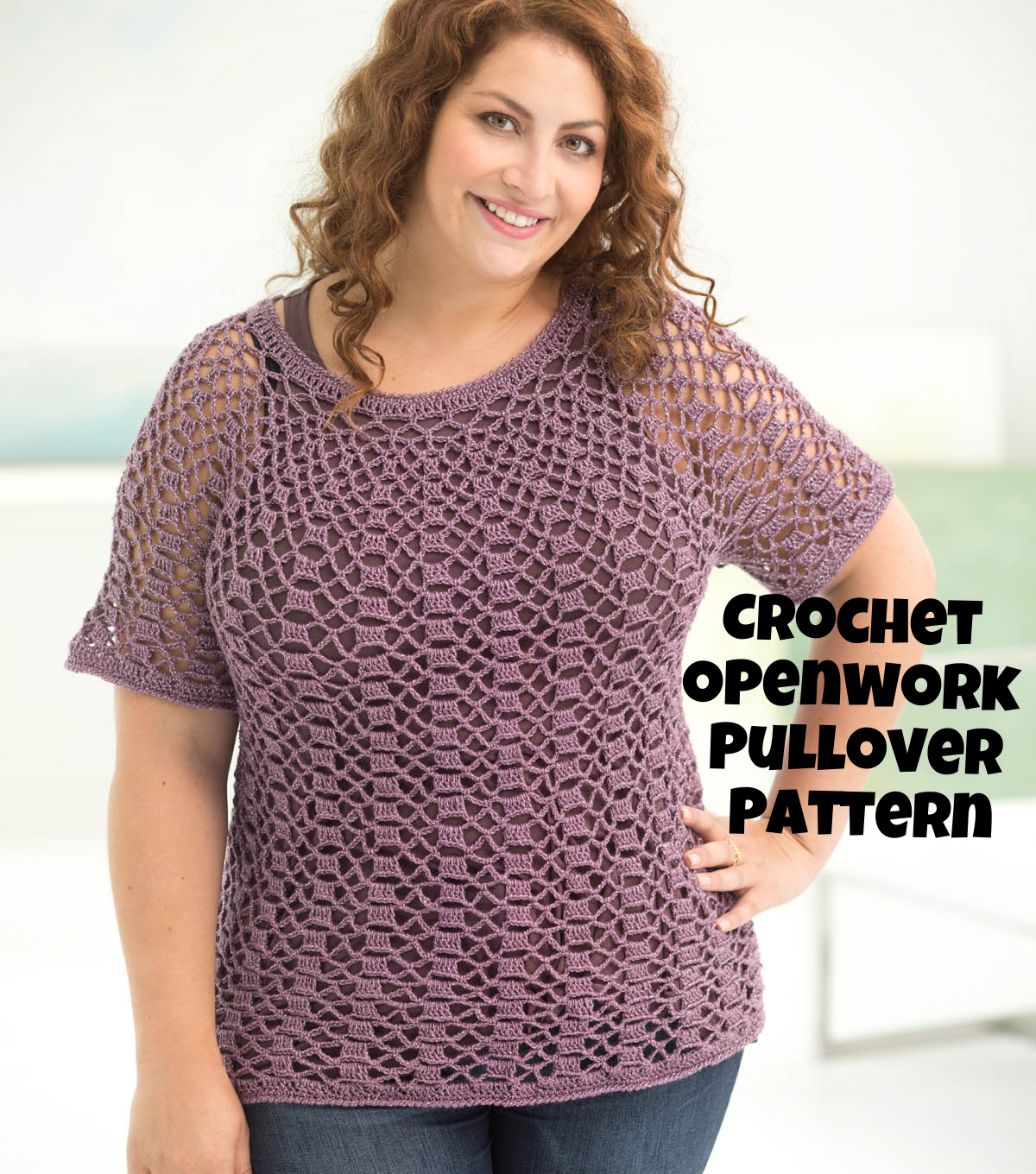 How To Make An Openwork Top Down Pullover Crochet Pattern | Free ...