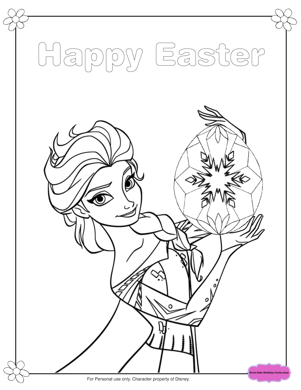 Frozen Elsa And Olaf Easter Coloring Pages Fun Easter Printables
