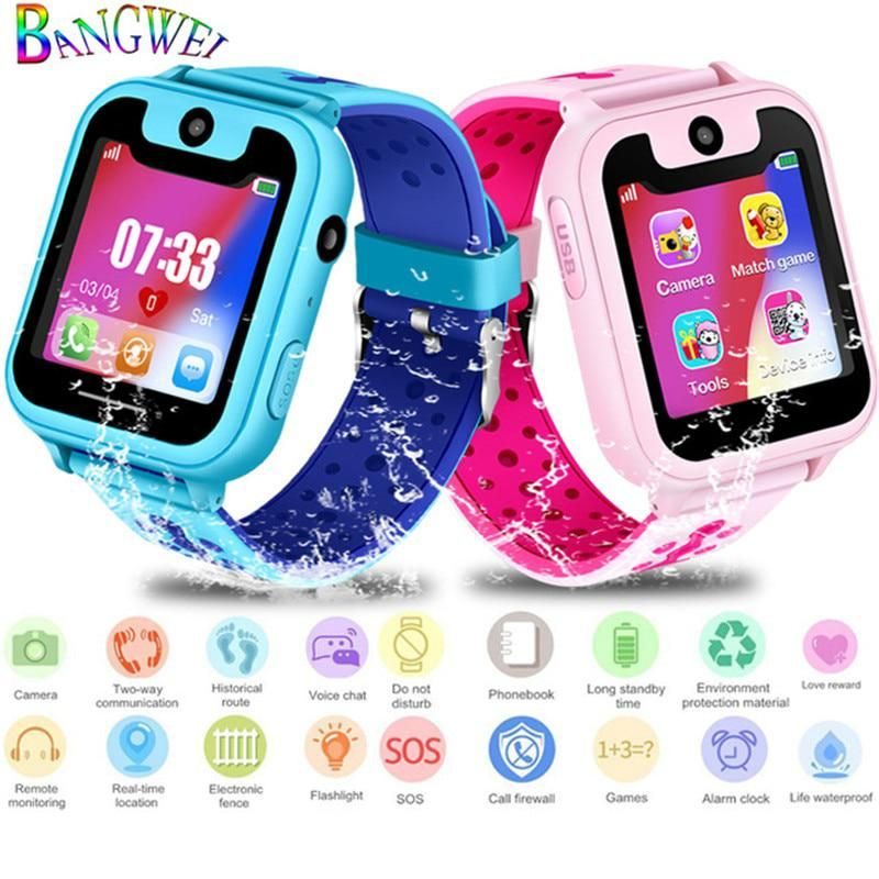 BANGWEI 2018 New LED Color Screen Children smart Watch