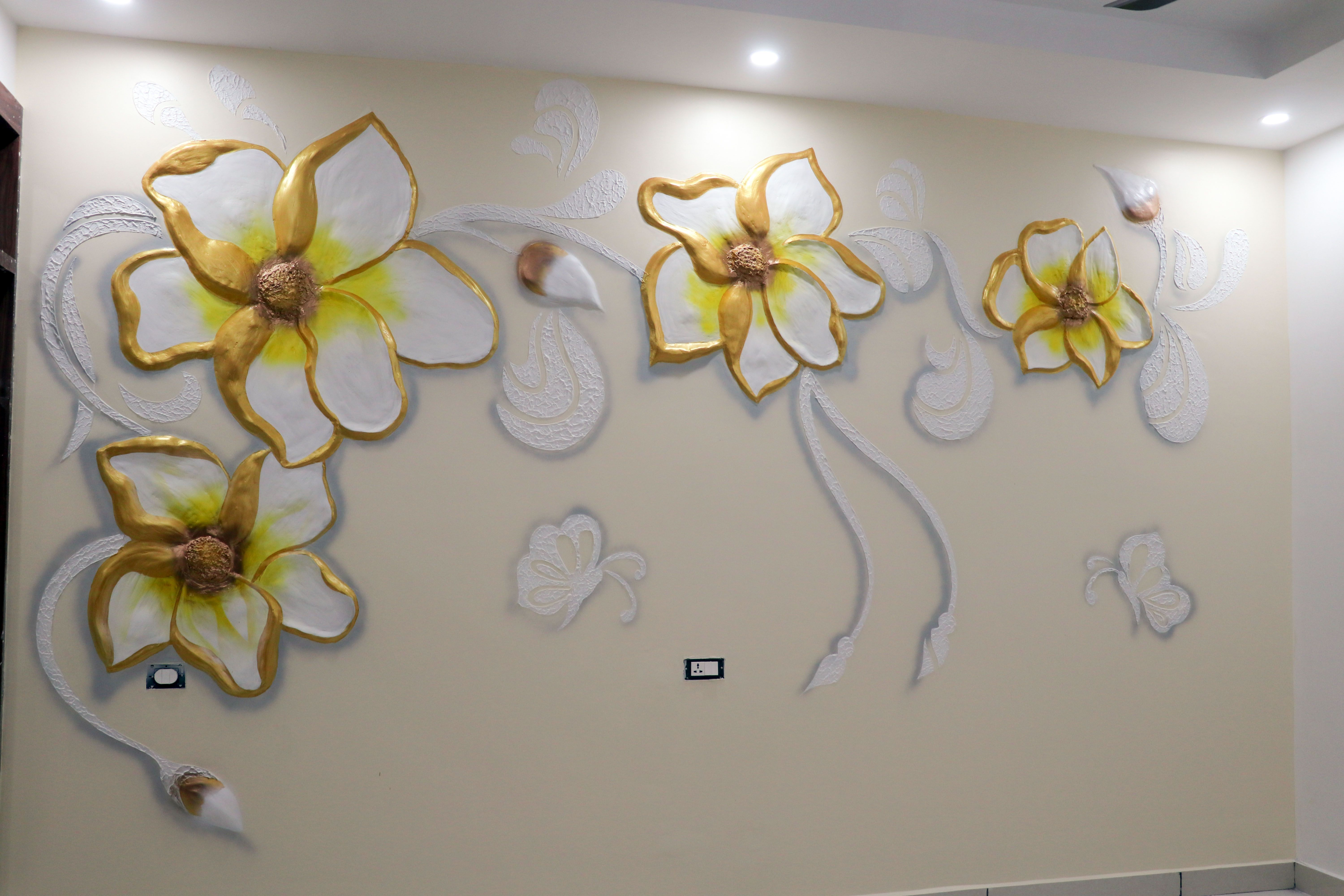 5d Mural Design For Bedroom And Living Room Ideas P O P Dry Wallputty Creative Wall Painting Mural Design Wall Paint Designs