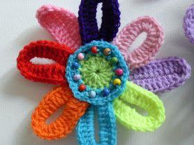 ElenaRegina wool: Fiore arcobaleno