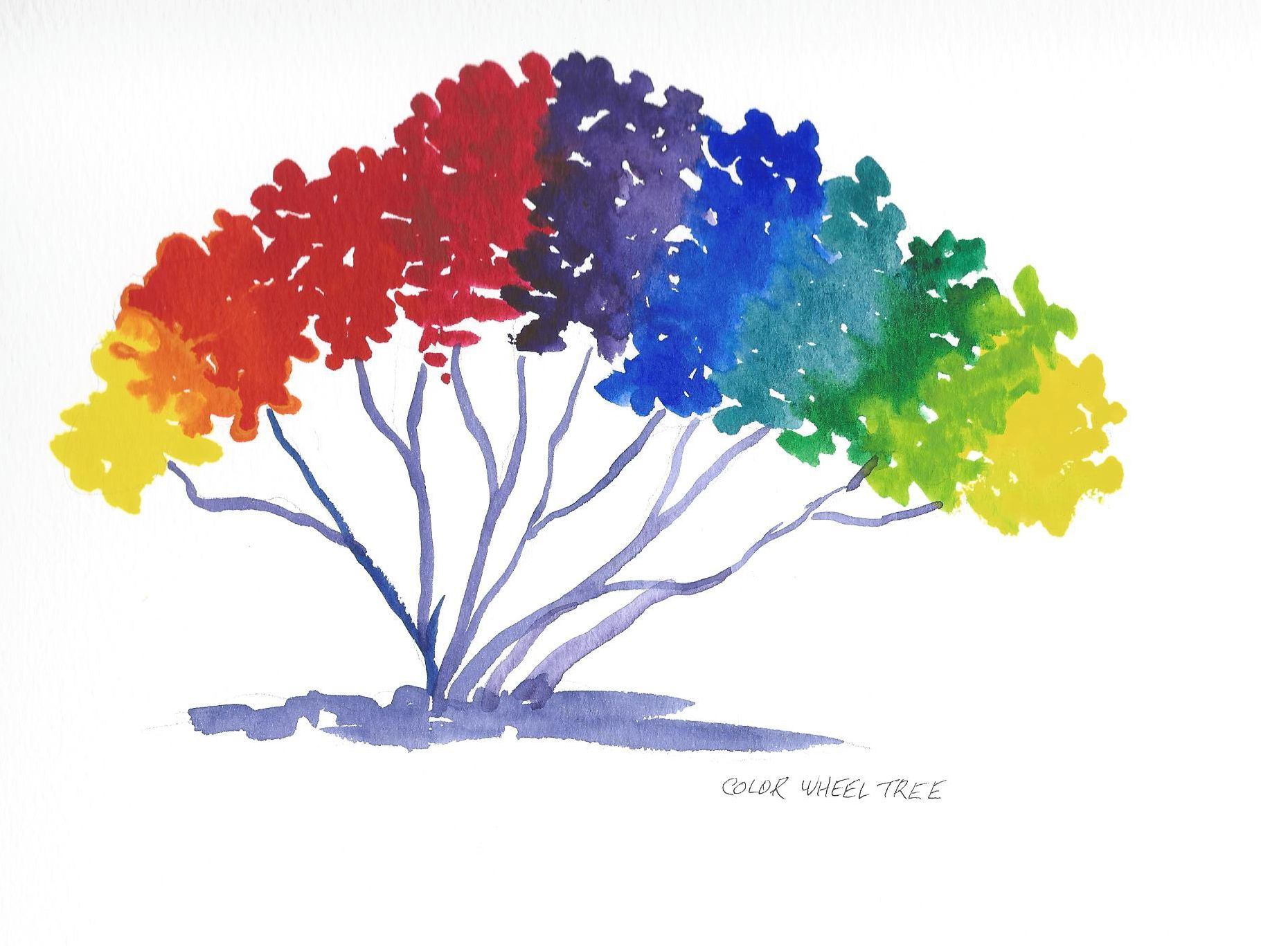 The Color Wheel Tree Color Wheel Art Color Wheel Projects