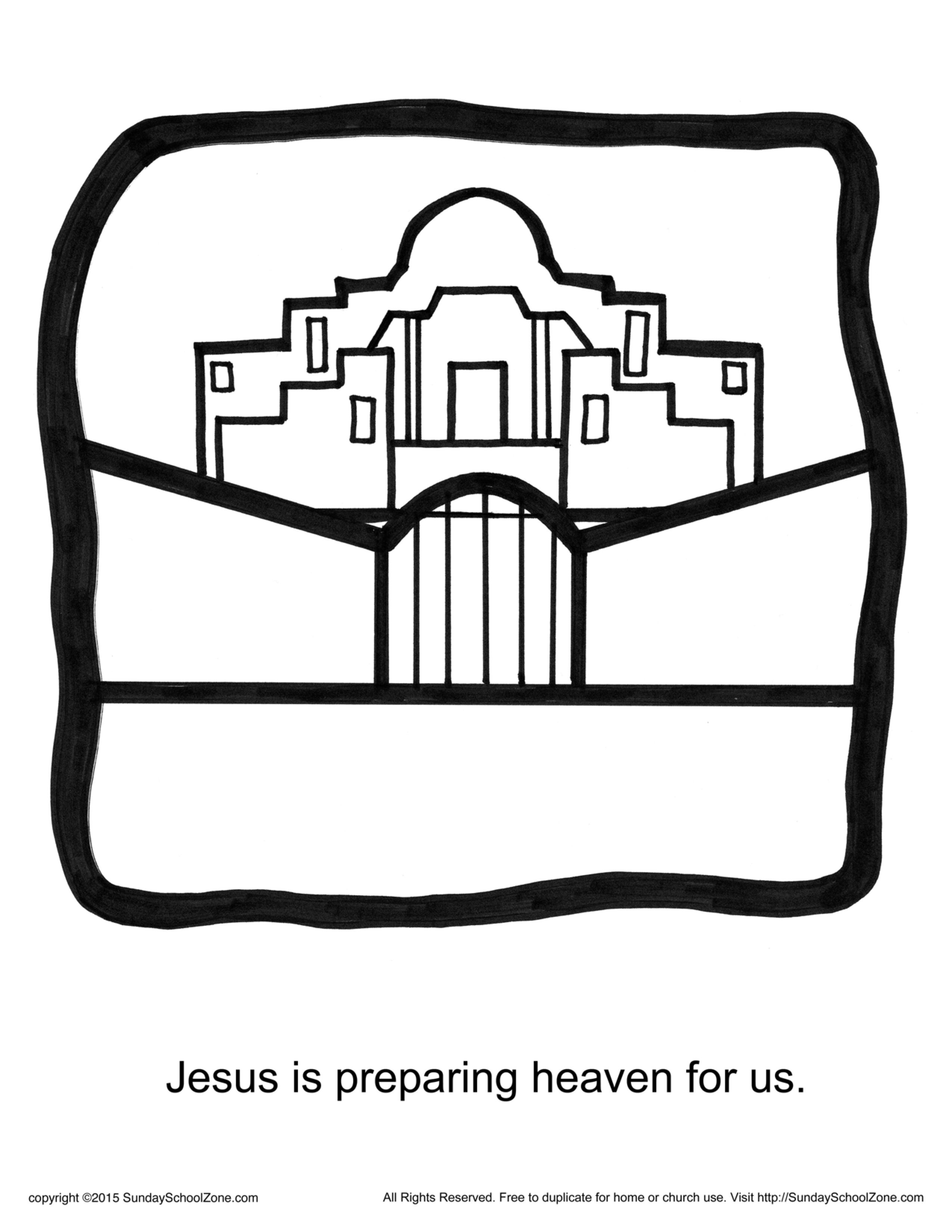 Jesus Is Preparing Heaven For Us Story Icon Coloring Page God