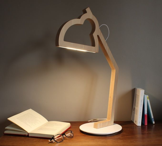 Lysa A Wood Led Lamp In Two Dimensions Wooden Lamps Design Wooden Lamp Desk Lamp Design