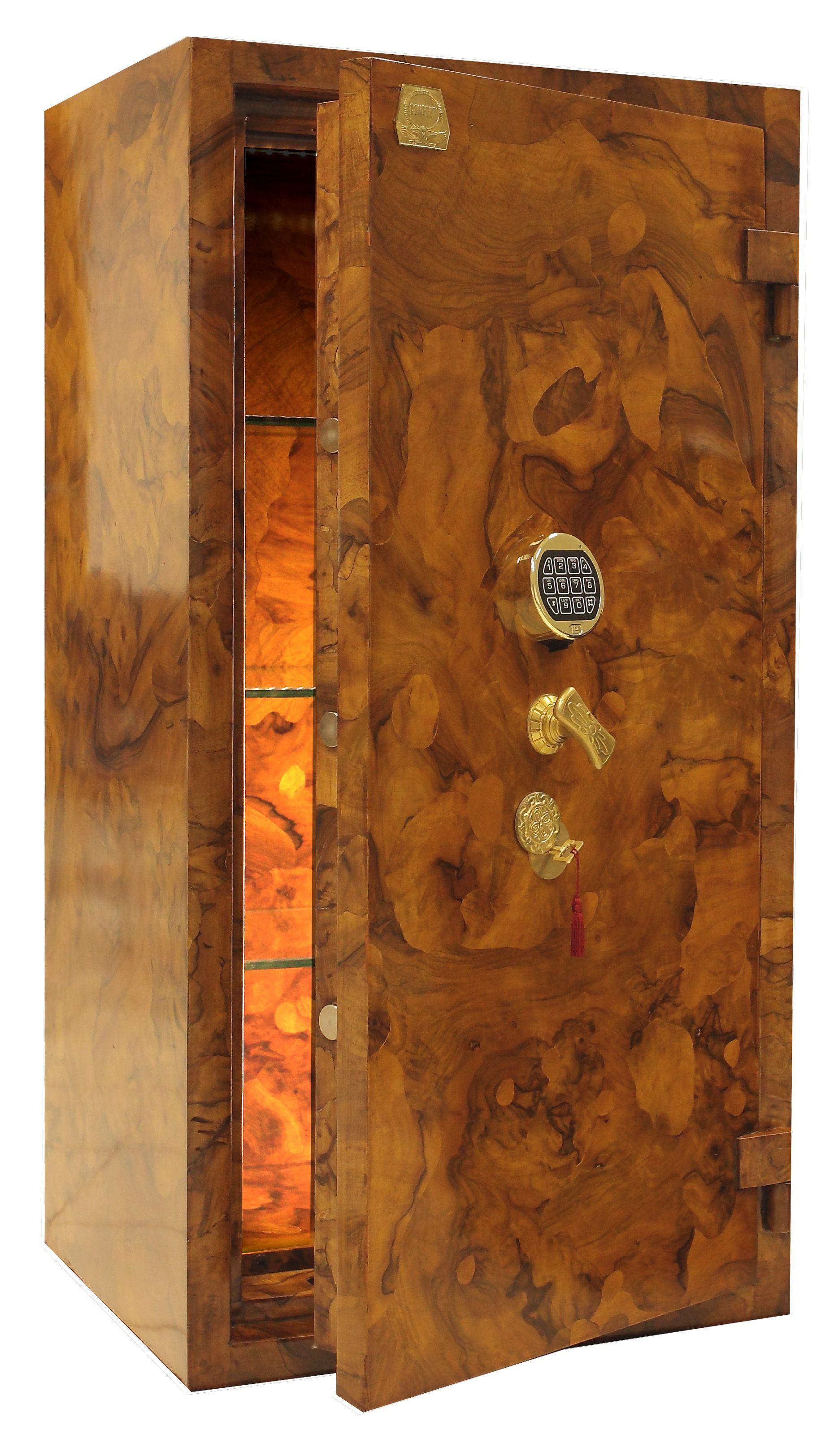 EXCLUSIVE SAFES Cassaforte in radica di noce ferrarese#luxury #safes ...