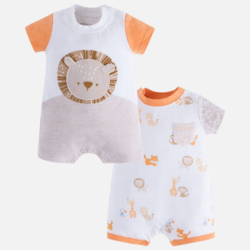 8f1ad2e6b144 Mayoral Baby Boy Jungle Lion and Animal Print Romper