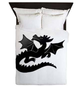 Black Dragon Queen Duvet > Black Dragon > artyart