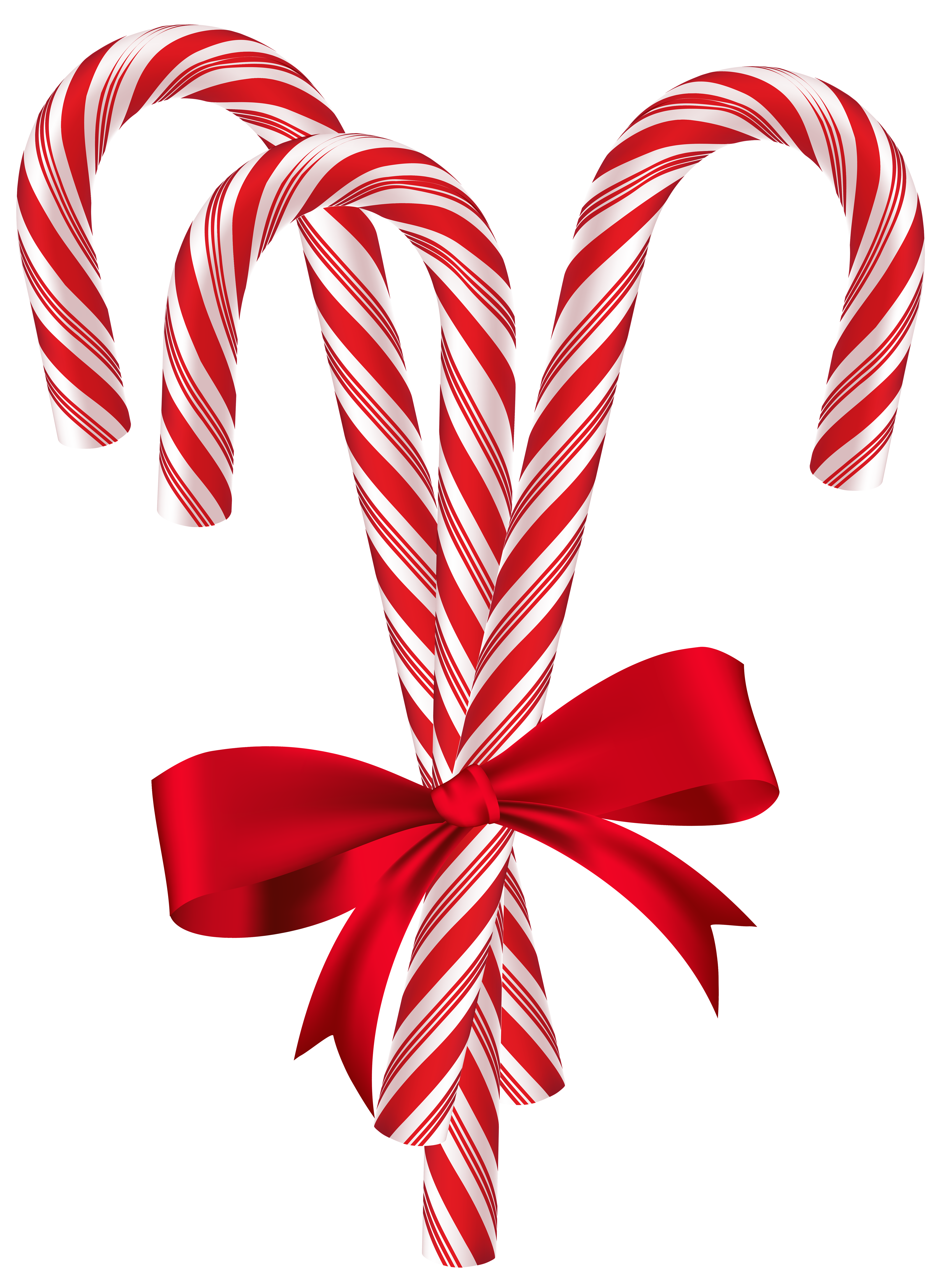 Candy Canes with Red Bow PNG Clip Art Image   Christmas ...