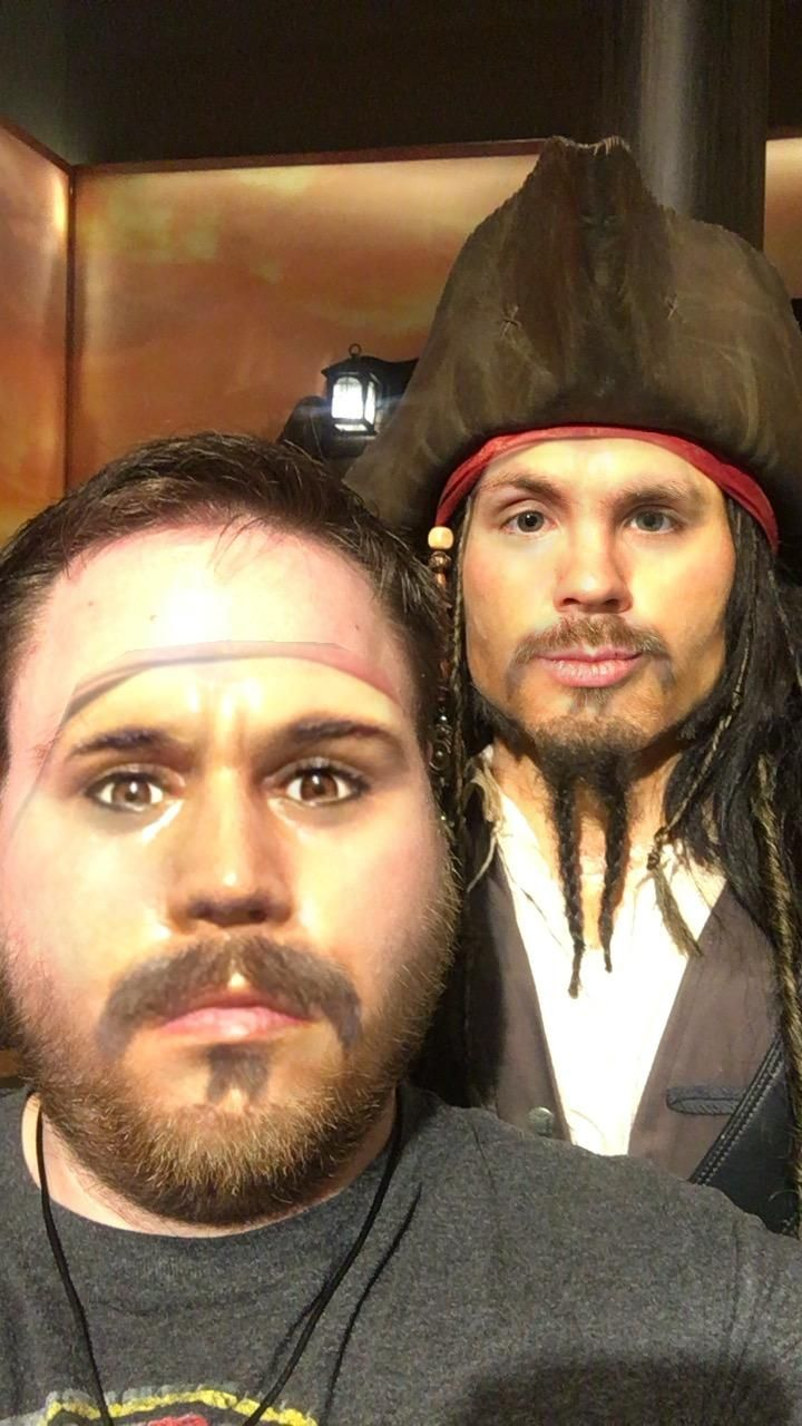 I took a face swap app into the Hollywood Wax Museum
