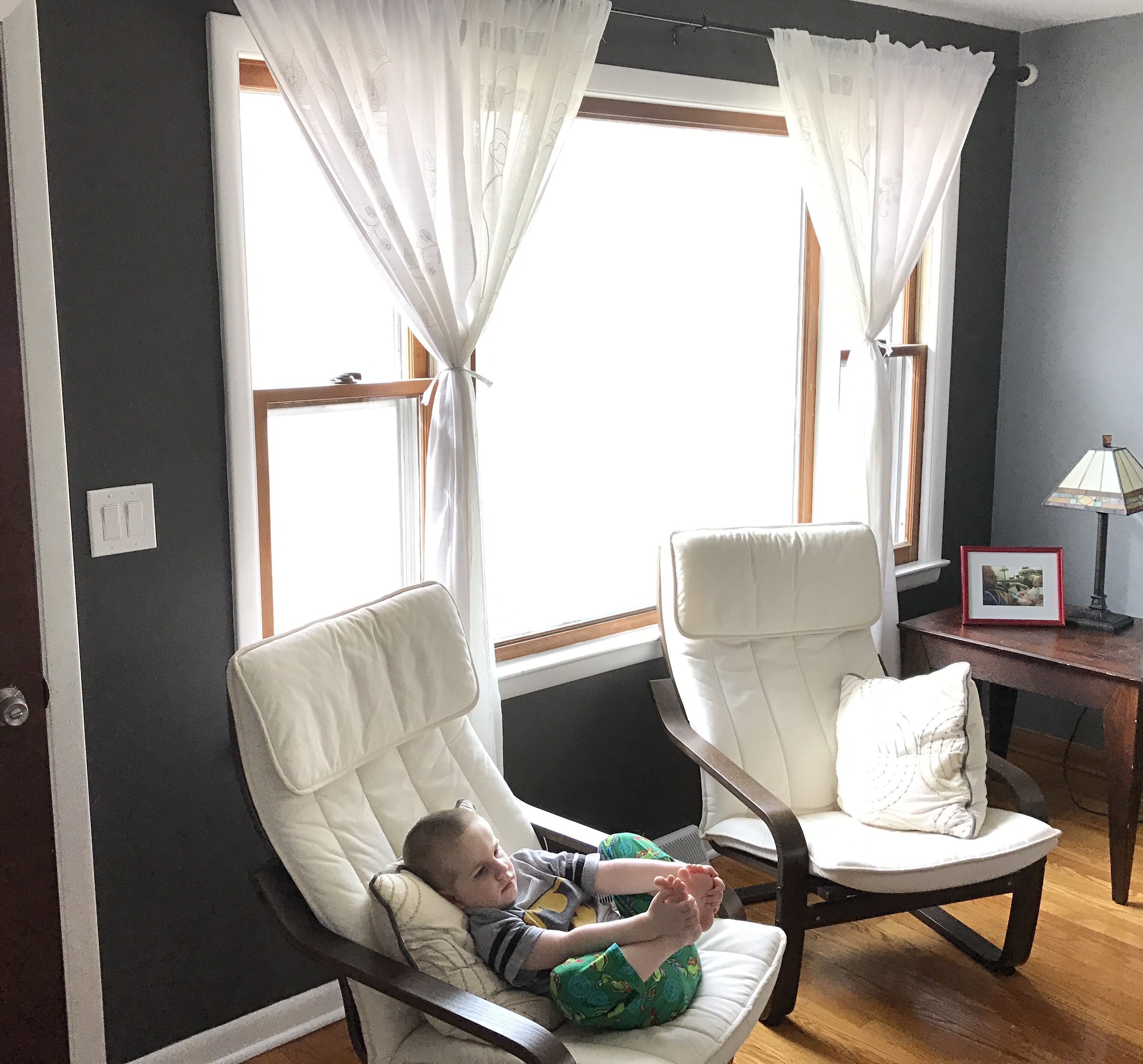 Behr Intellectual Accent Wall, With Two-toned Window Trim