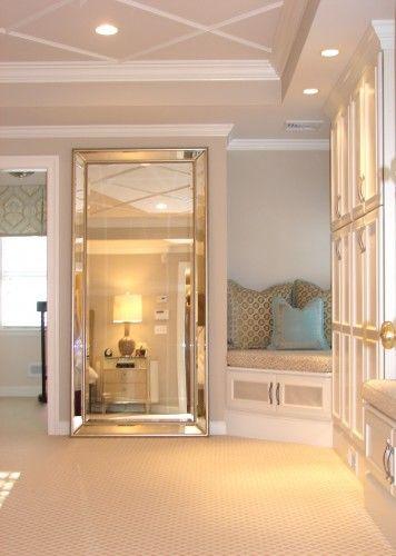 Traditional Bedroom Design Ideas, Huge Floor Length Mirrors