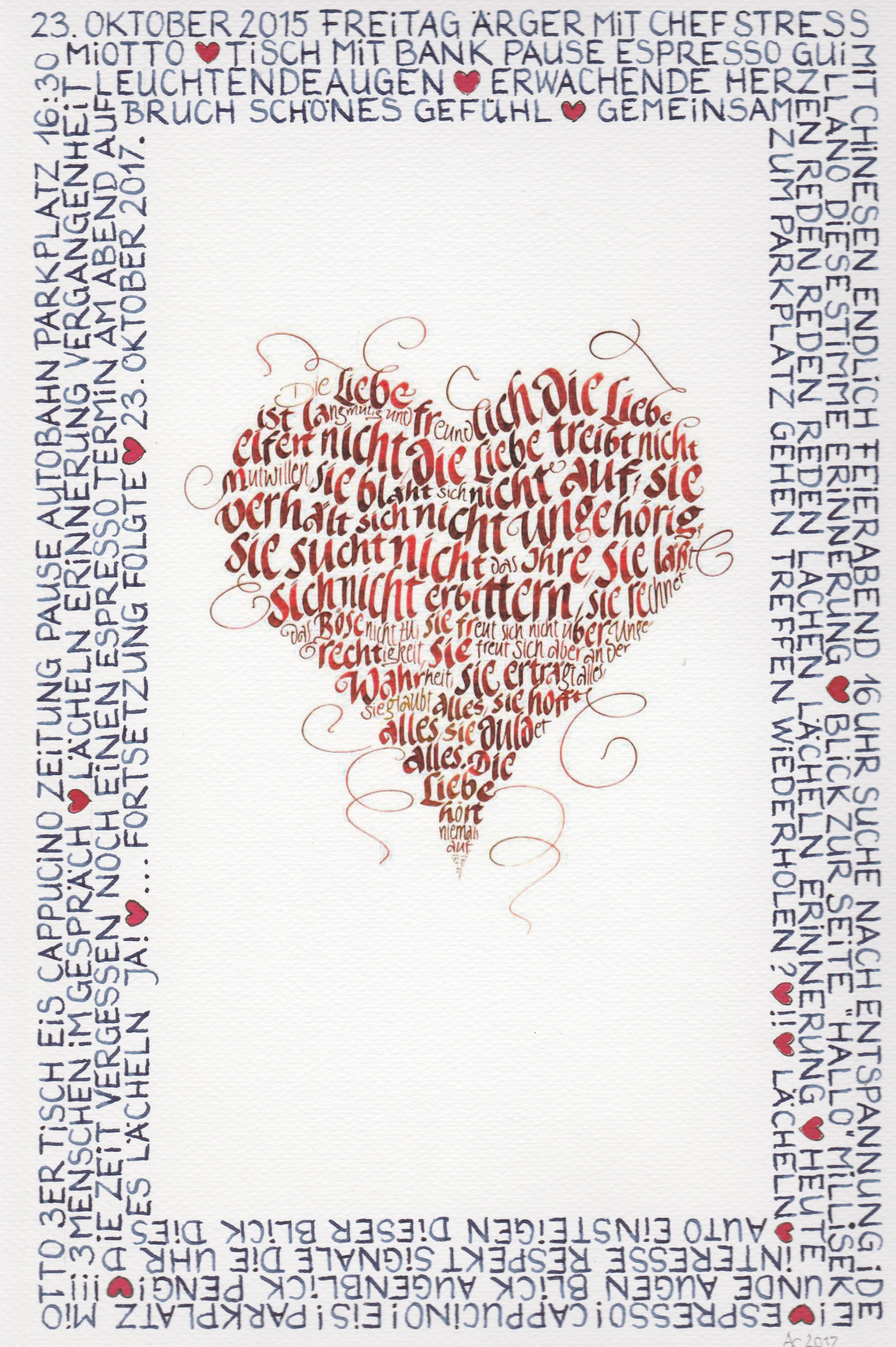 Wie sie er sich verliebte Rahmentext Layout von AC