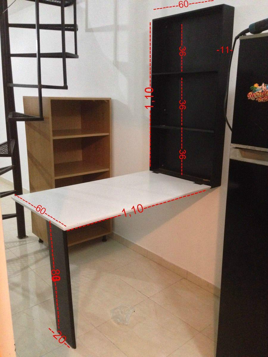 Mesa desayunador escritorio comedor plancha plegable a pared proyectos que - Mesa plegable pared ...
