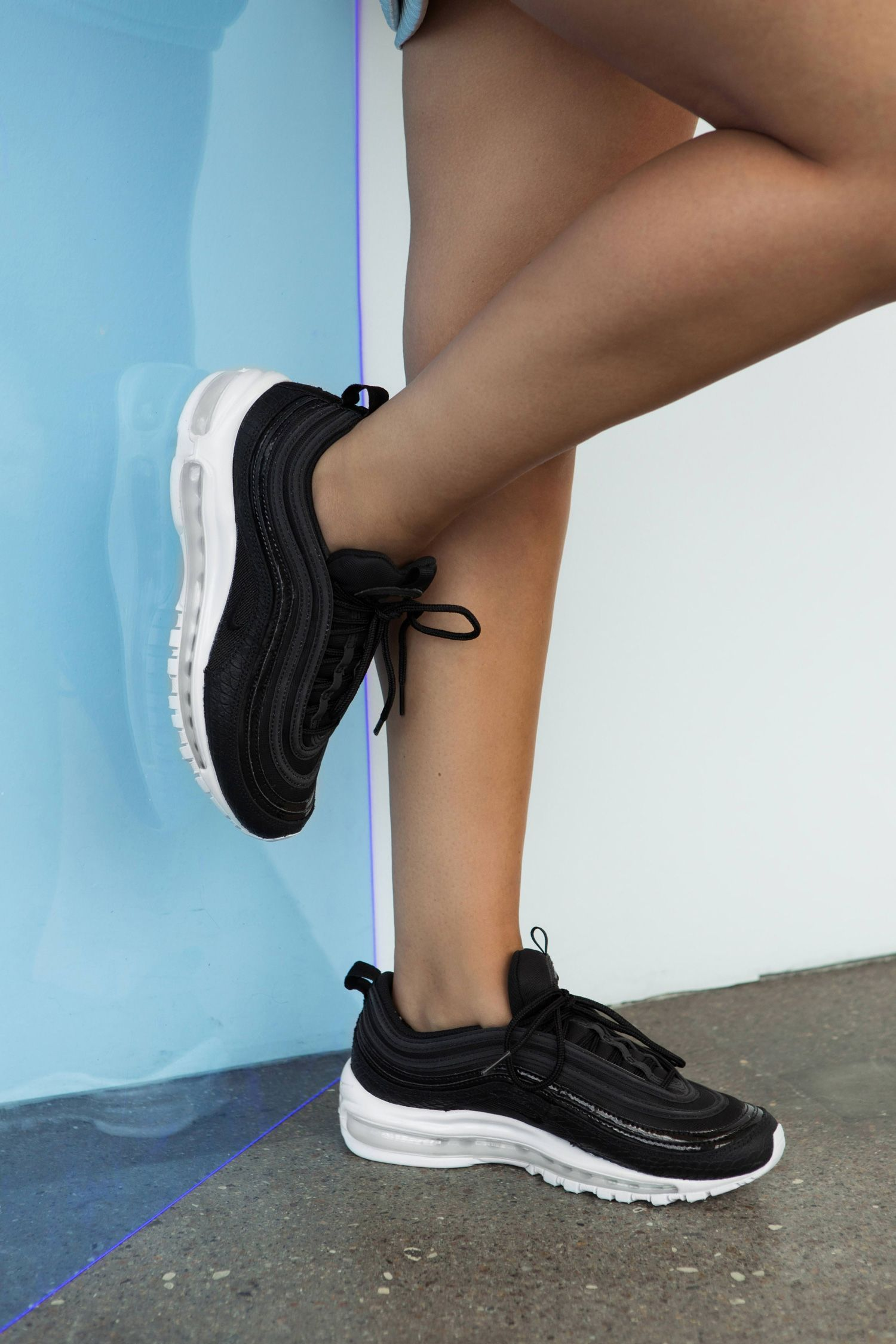 women nike air max 97 black