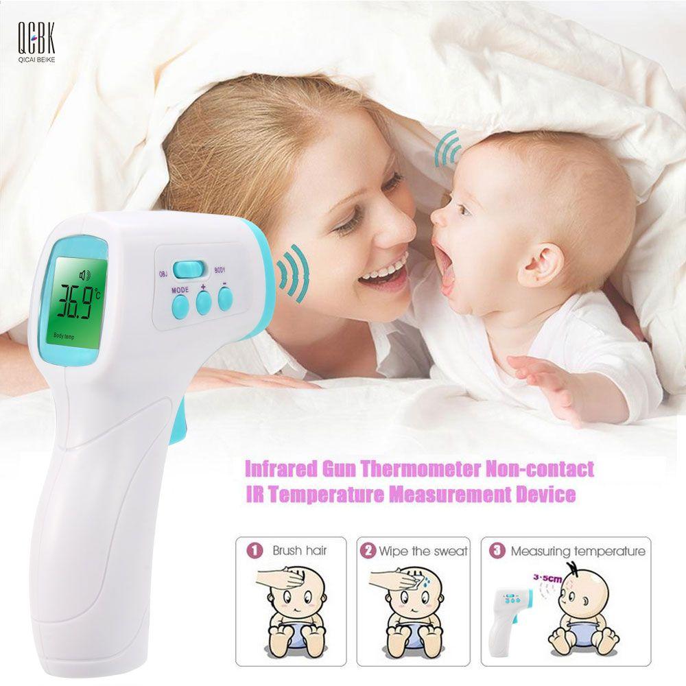 Elektronische LCD Diagnose-tool Erwachsene/Baby Thermometer Infrarot berührungslose Stirn Körper Digitale Termometro 3-Color Hintergrundbeleuchtung