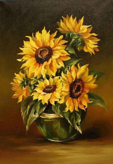 Do Wykorzystania Haft Krzyzykwy Izyda55 Chomikuj Pl Flower Painting Sunflower Painting Abstract Floral Art