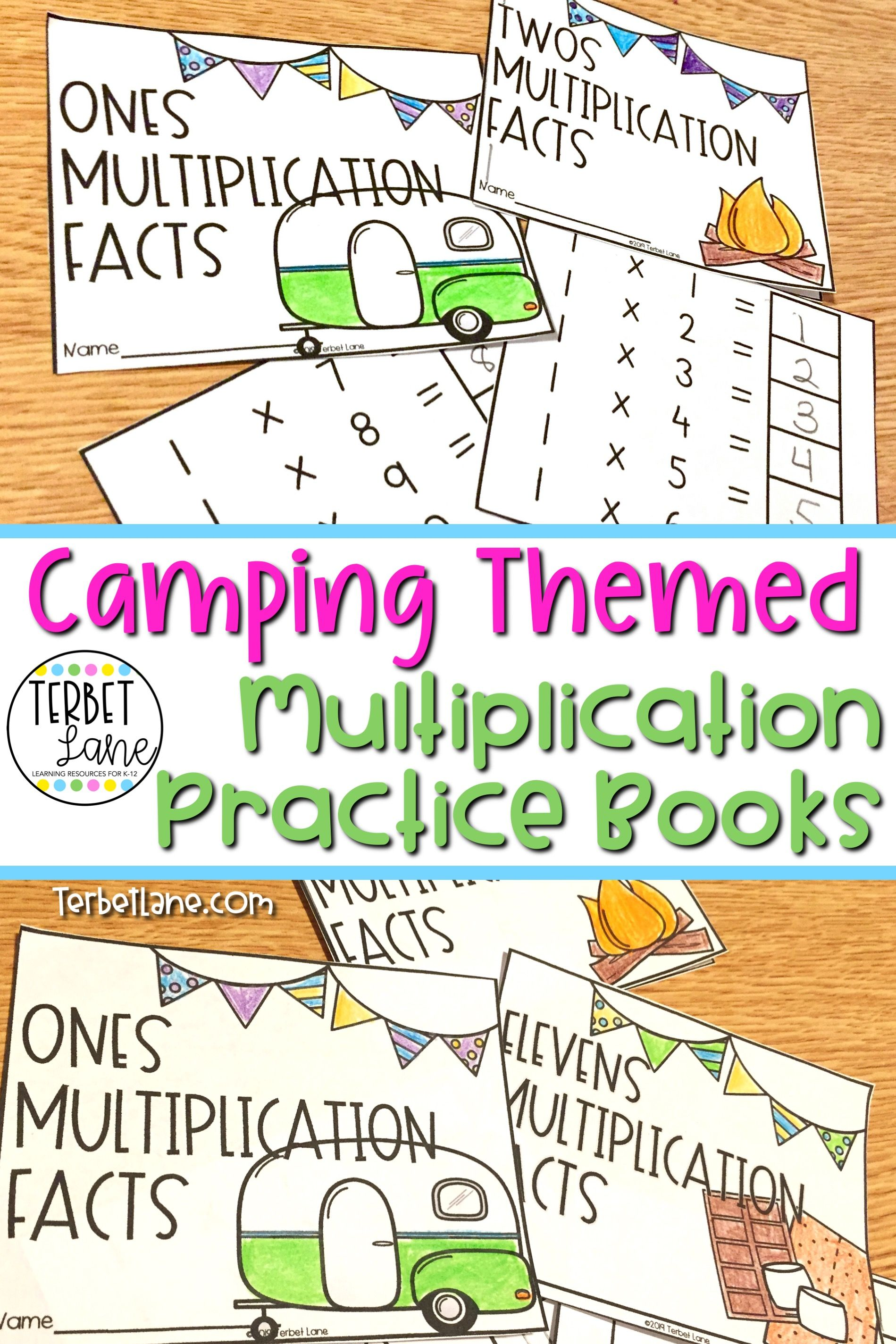 Multiplication Facts Practicecamping Themed In
