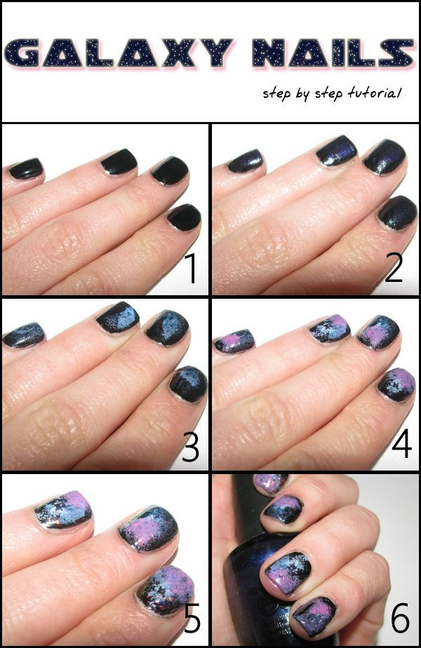 nail+design+step+by+step | Galaxy Nails: NOTD + STEP BY STEP ...