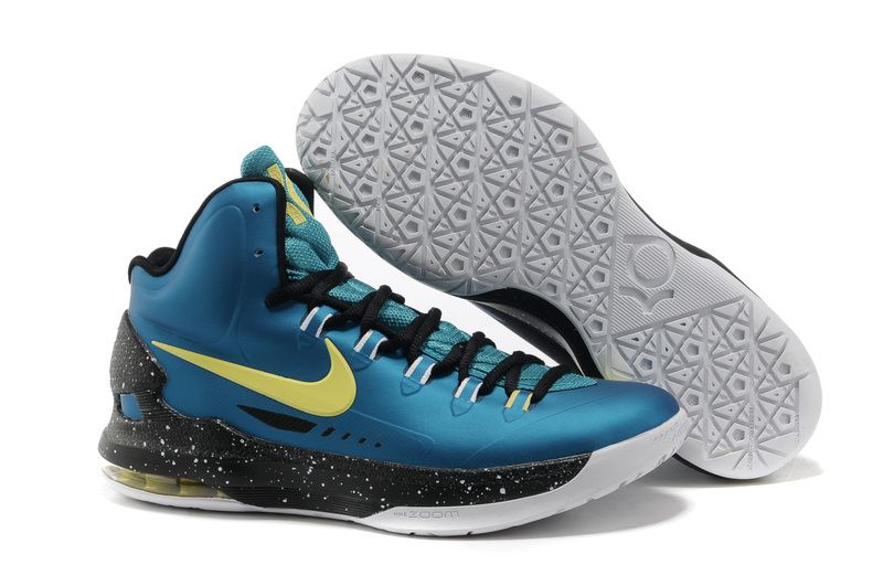 Green Abyss Black Yellow Nike Zoom KD V 554988 300 Kevin Durant Shoes 2013