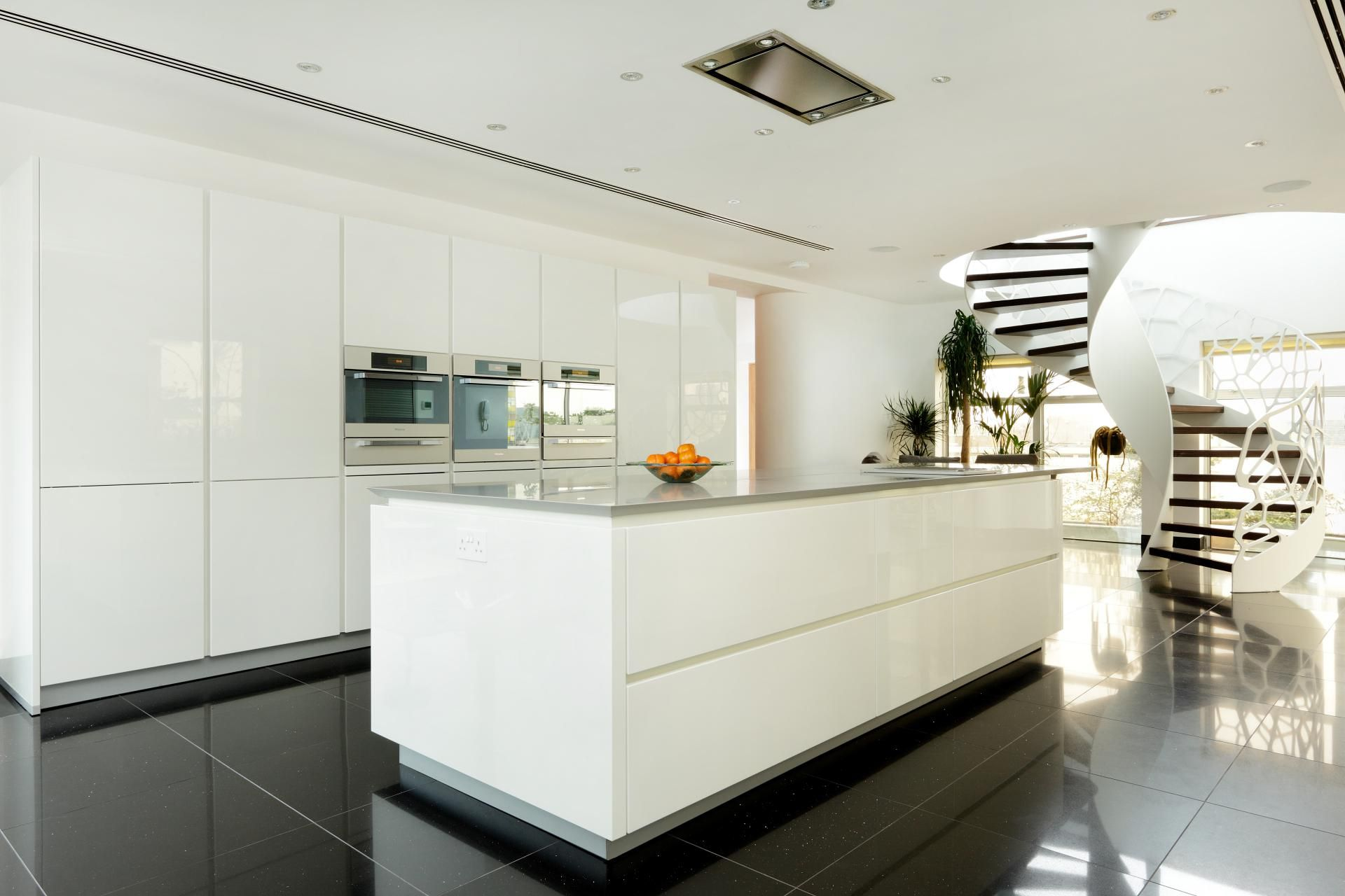 About alno modern kitchens on pinterest modern kitchen cabinets - Barbican Alno Star Highline High Gloss White Kitchen Miele Appliances Corian Worktops Barbican Alno Star Highline High Gloss W