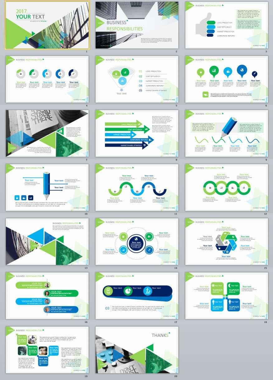 20+ green report powerpoint presentation template | ppt, Presentation templates