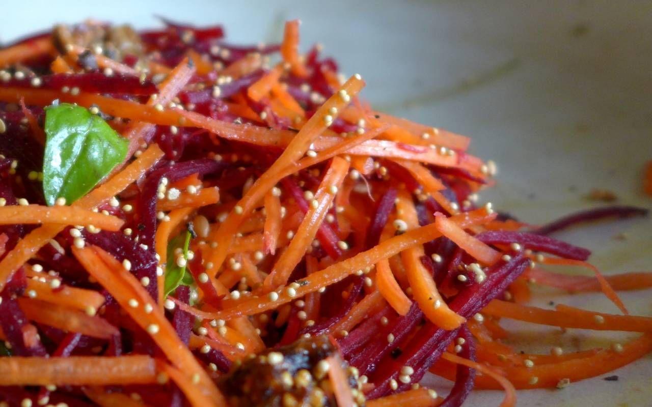 Carrot Beet Amaranth Super Salad Recipe
