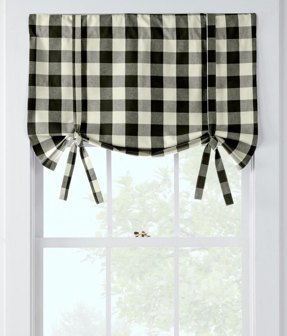 Buffalo Check Tie Up Valance - Country Curtains® | Roast | Pinterest ...