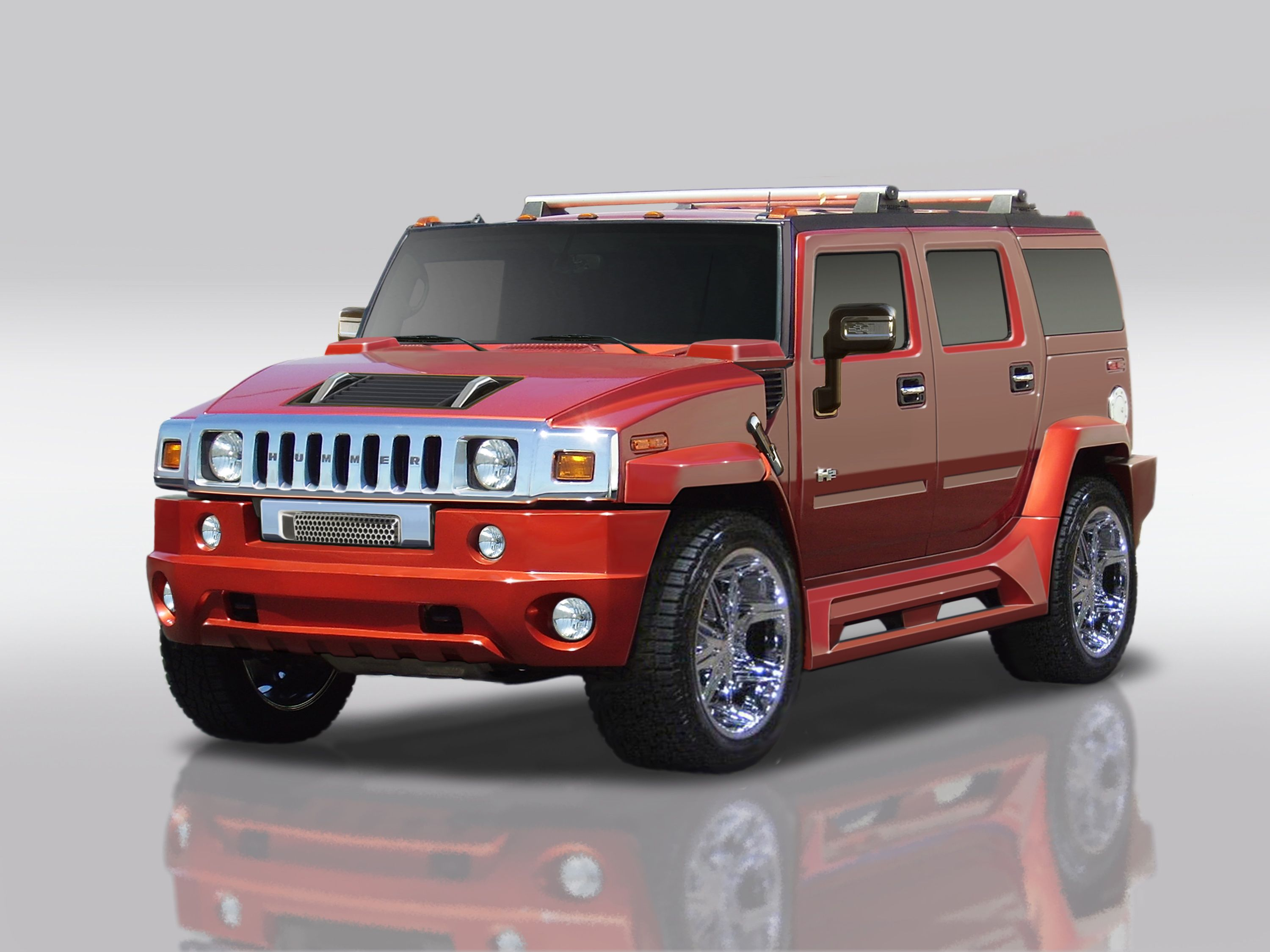 Hummer H2 Lifted Red. Hummer H2 Red Wallpaper